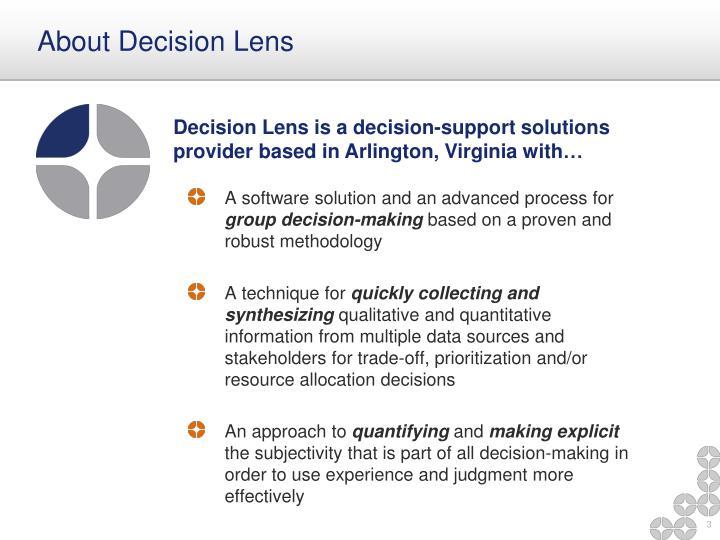 About Decision Lens