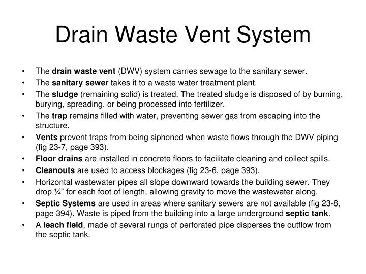Drain Waste Vent System