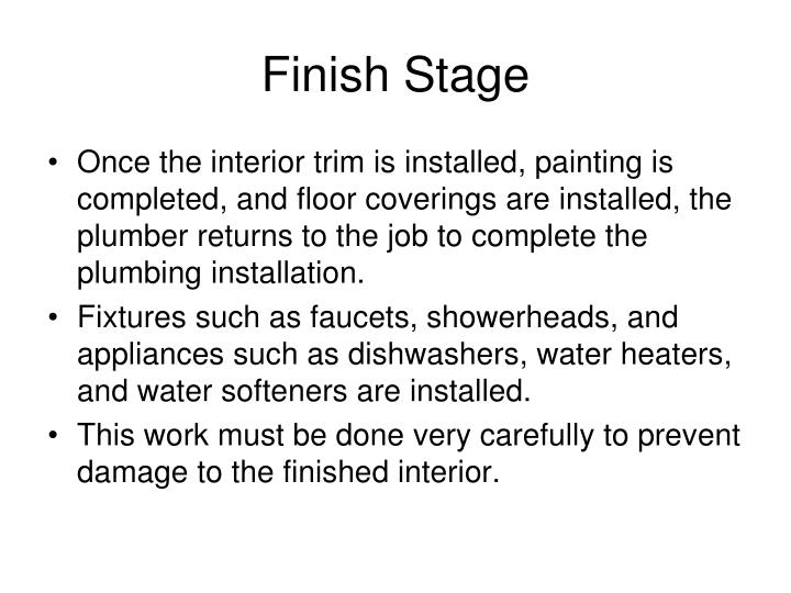 Finish Stage