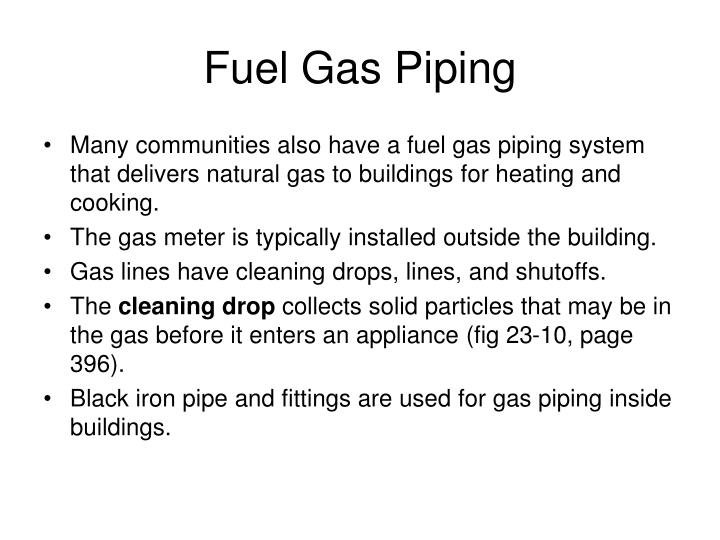 Fuel Gas Piping