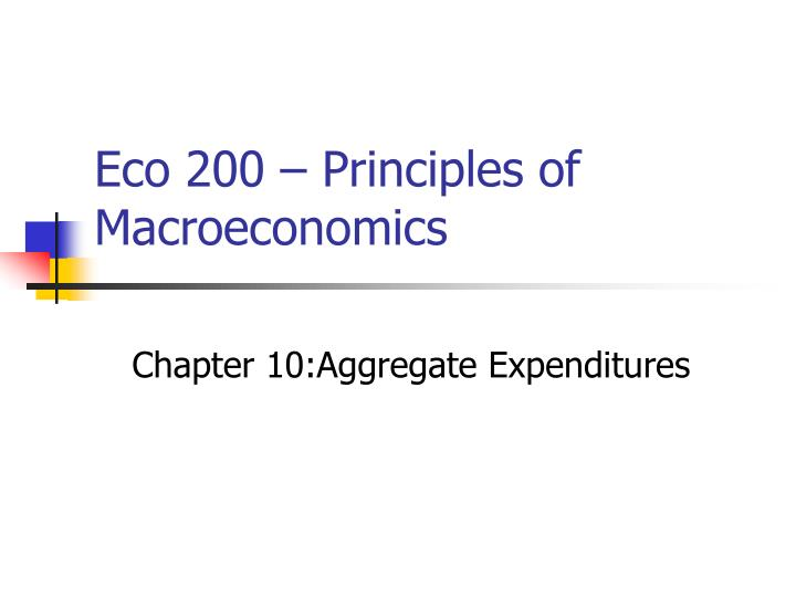 eco 200 principles of macroeconomics