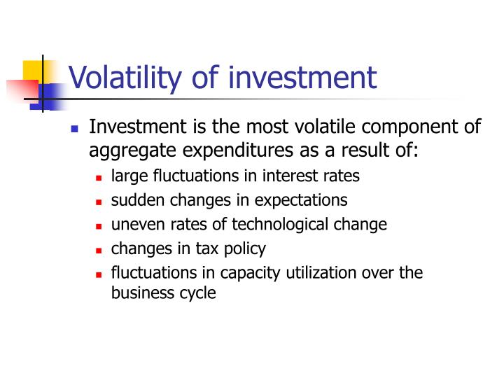 Volatility of investment