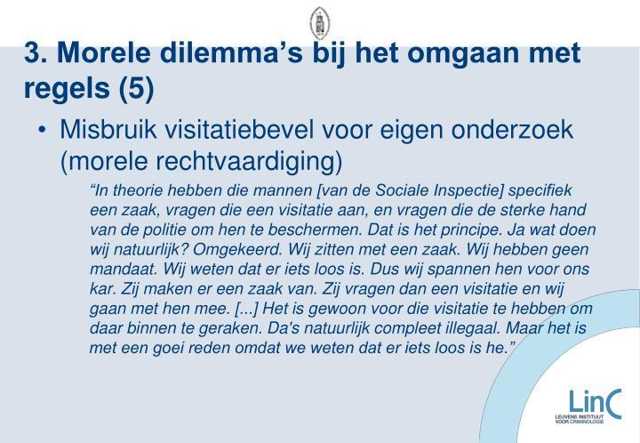 3. Morele dilemma's bij het omgaan met regels (5)