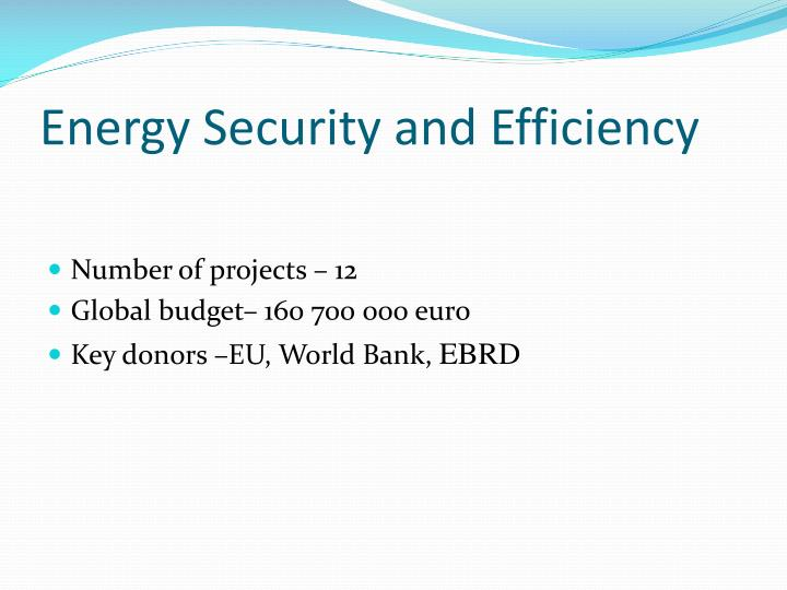 Energy Security and Efficiency