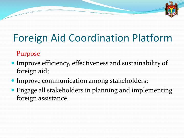Foreign Aid Coordination Platform