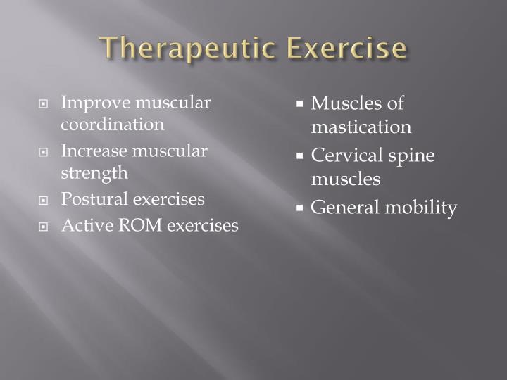 Improve muscular coordination