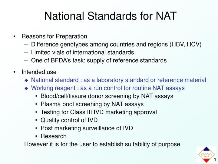 National Standards for NAT
