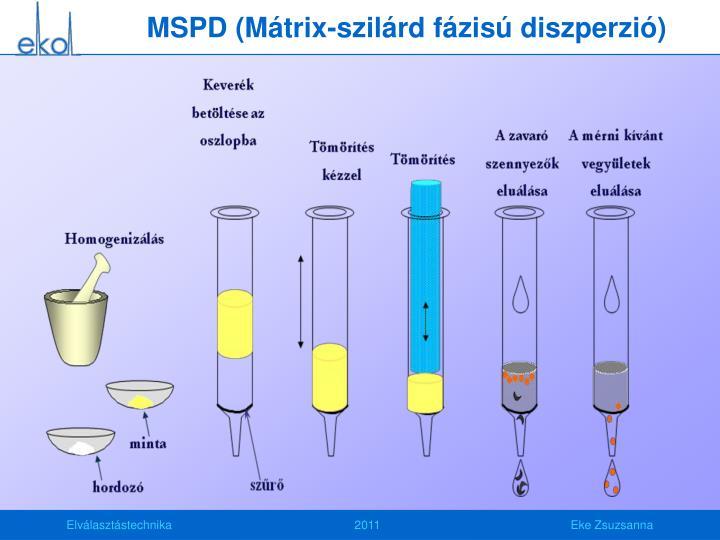 MSPD (Mátrix-szilárd fázisú diszperzió)