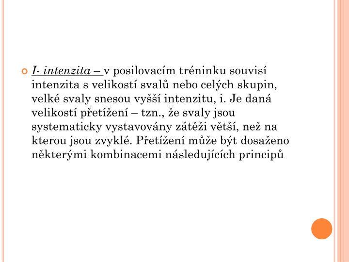 I- intenzita
