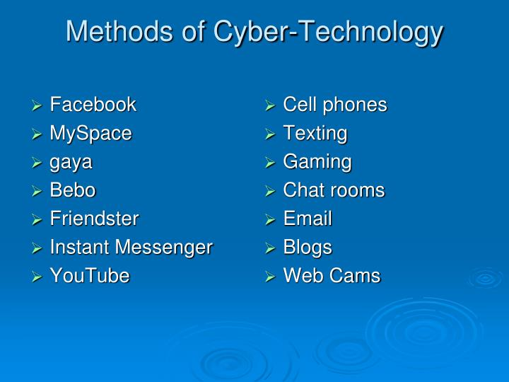 Methods of cyber technology