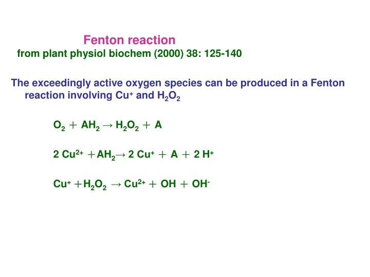 Fenton reaction