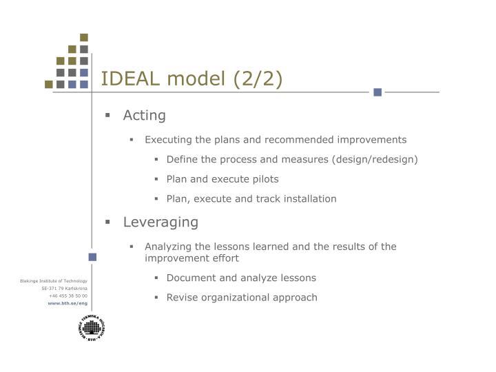IDEAL model (2/2)
