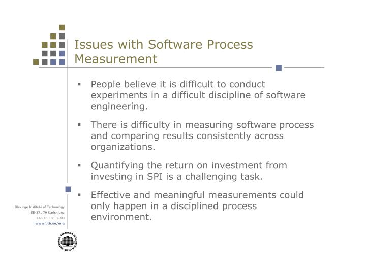 Issues with Software Process Measurement