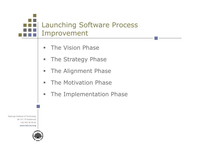 Launching Software Process Improvement
