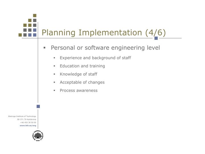 Planning Implementation (4/6)
