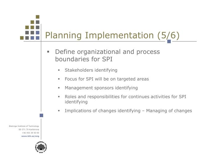 Planning Implementation (5/6)