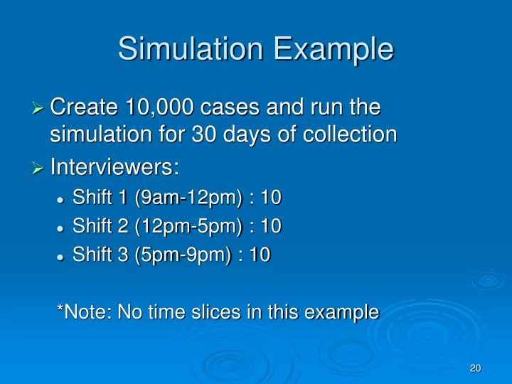 Simulation Example