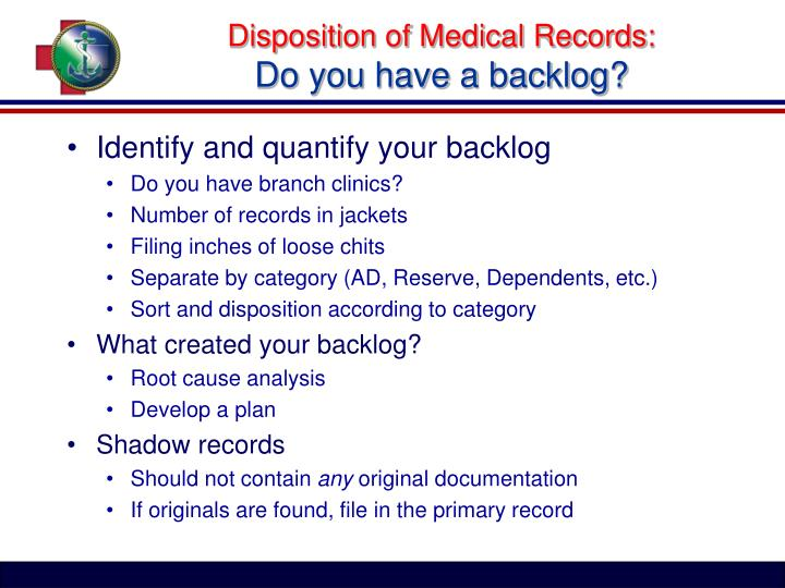 Disposition of Medical Records: