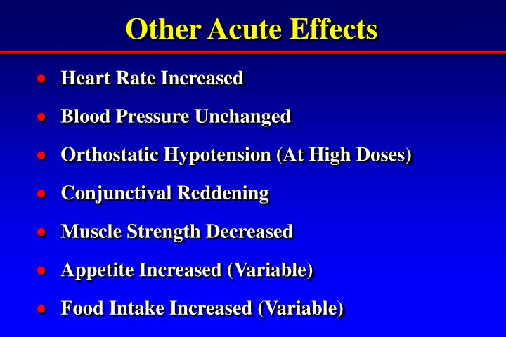 Other Acute Effects