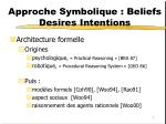 approche symbolique beliefs desires intentions