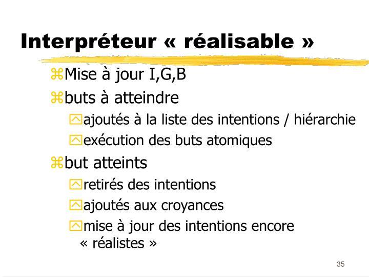 Interpréteur «réalisable»