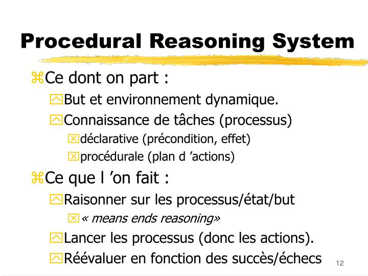 Procedural Reasoning System