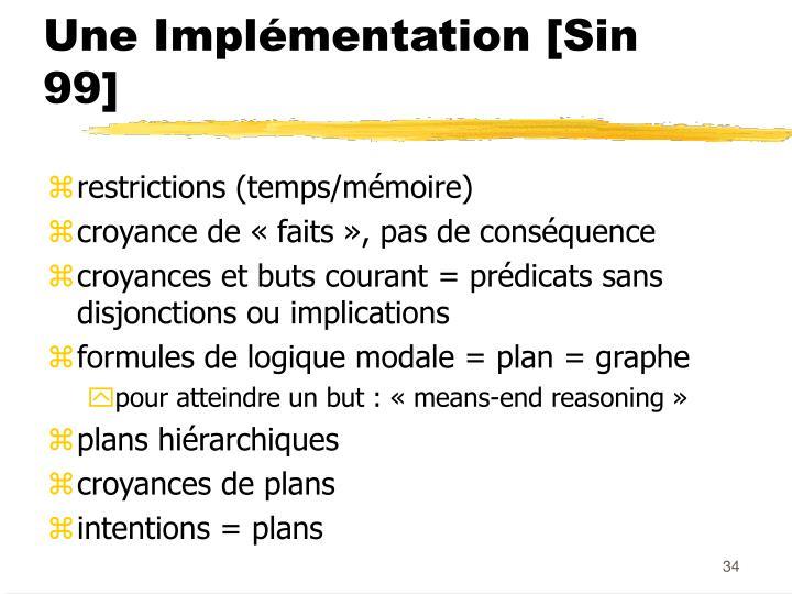 Une Implémentation [Sin 99]