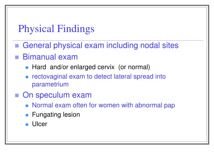 Physical Findings