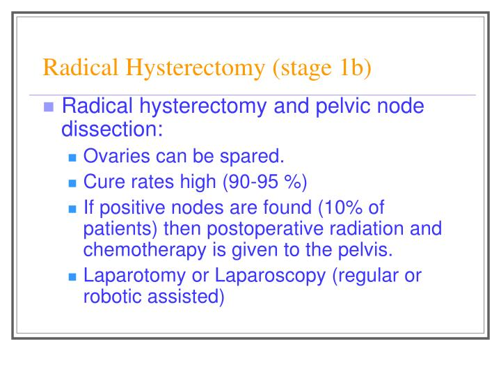 Radical Hysterectomy (stage 1b)