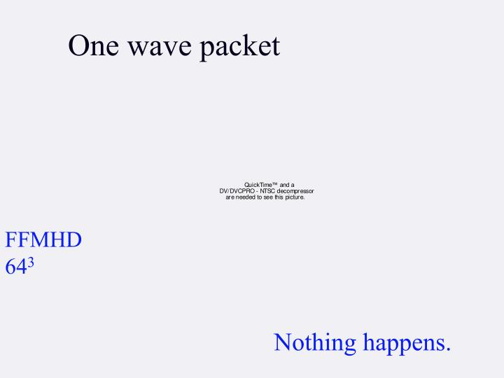 One wave packet