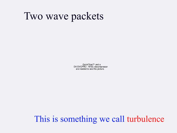 Two wave packets