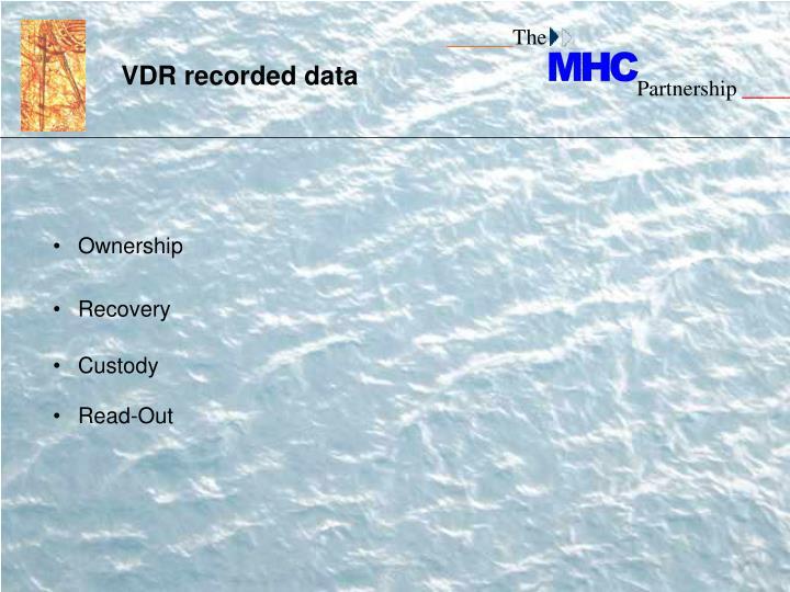 VDR recorded data