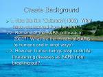 create background