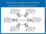 one cause leading to multiple events skipping classes