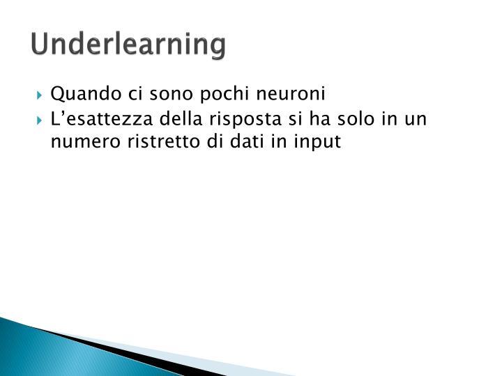 Underlearning