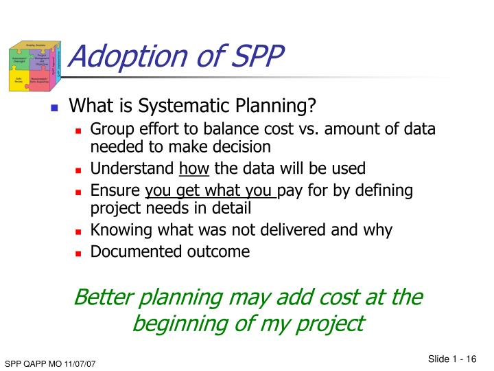 Adoption of SPP