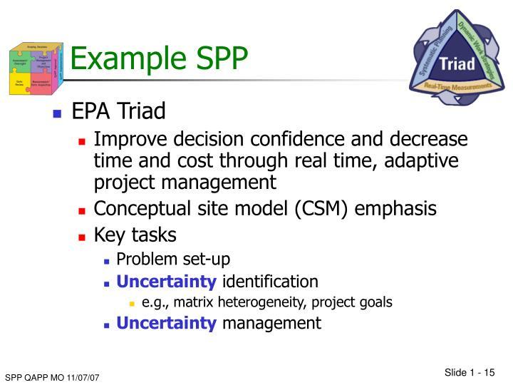 Example SPP
