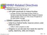mmrp related directives