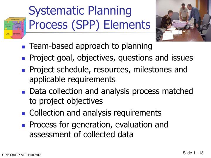 Systematic Planning Process (SPP) Elements