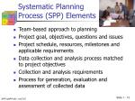 systematic planning process spp elements