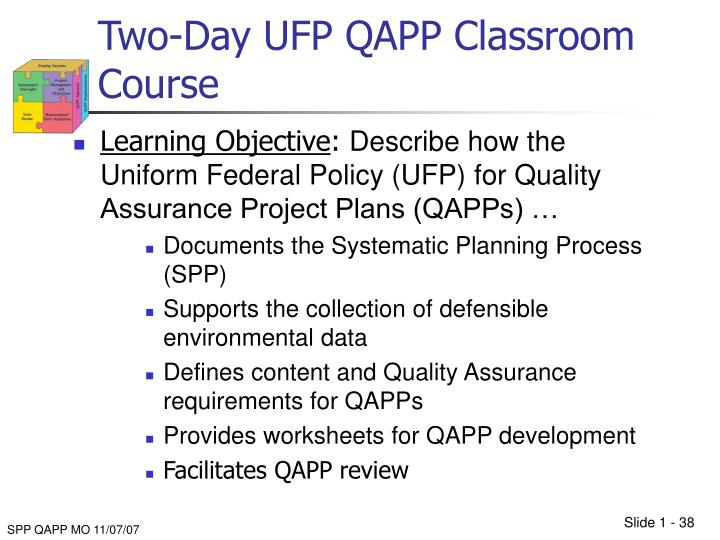Two-Day UFP QAPP Classroom Course