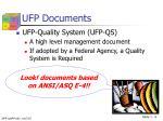 ufp documents