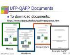 ufp qapp documents1