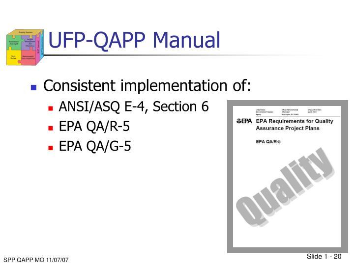 UFP-QAPP Manual