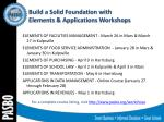 build a solid foundation with elements applications workshops