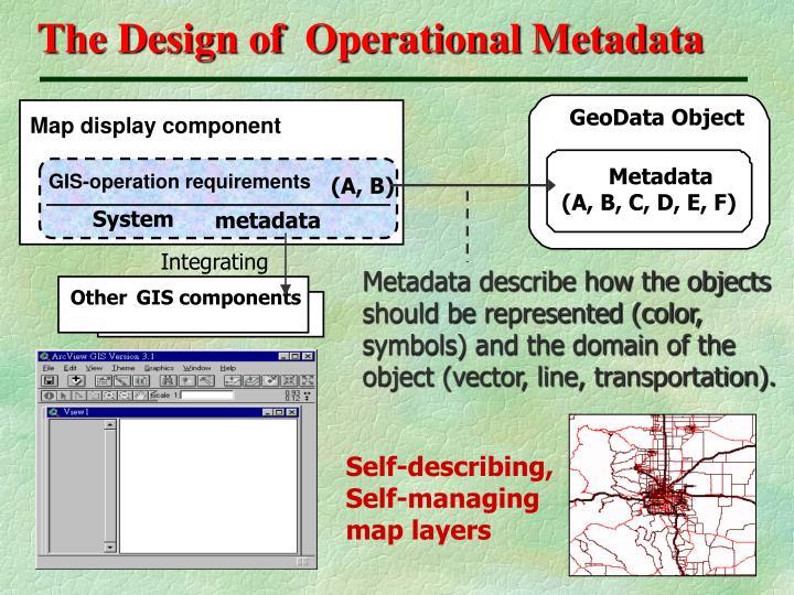 The Design of  Operational Metadata
