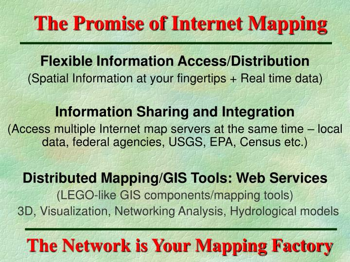 The promise of internet mapping