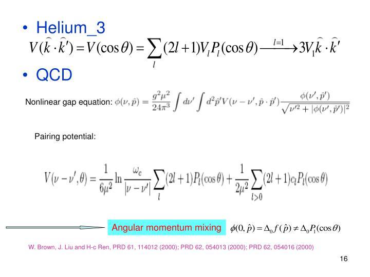 Nonlinear gap equation: