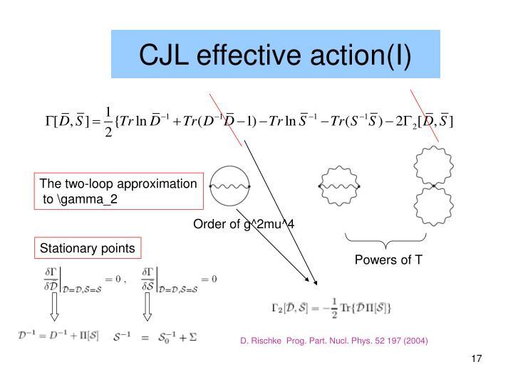 CJL effective action(I)