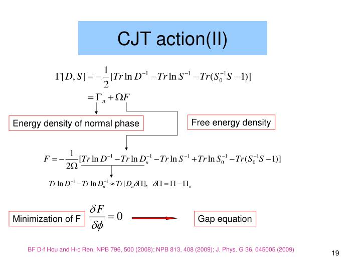 Gap equation